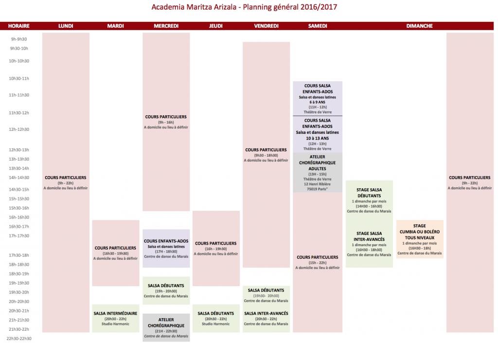 Planning général 2017