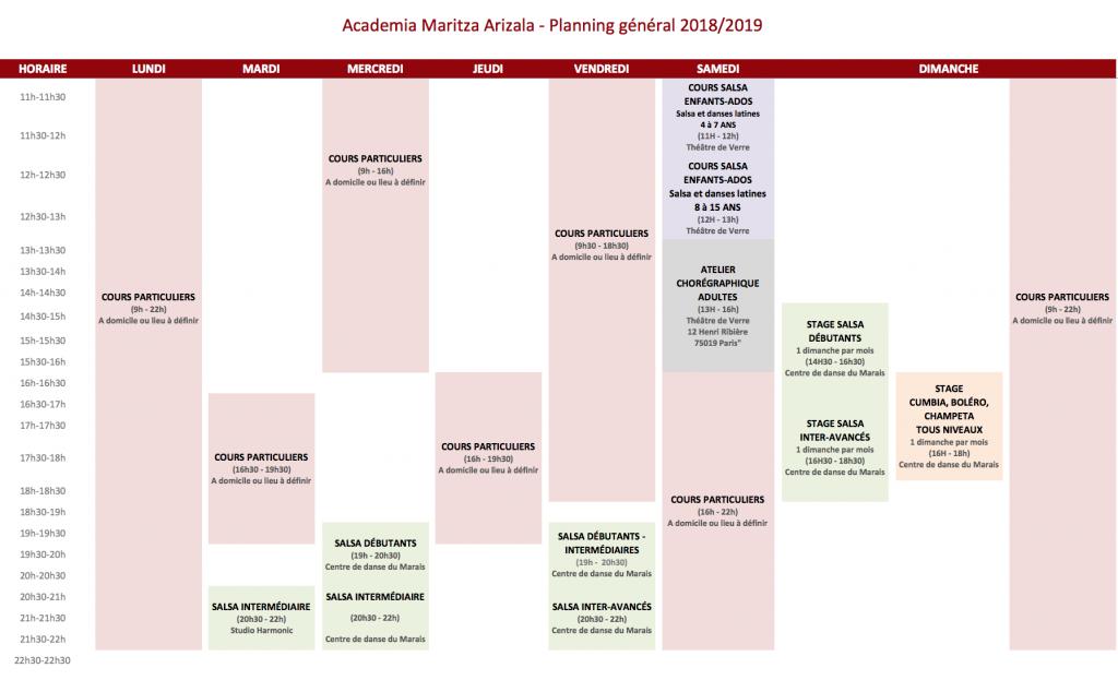 planning général 2019