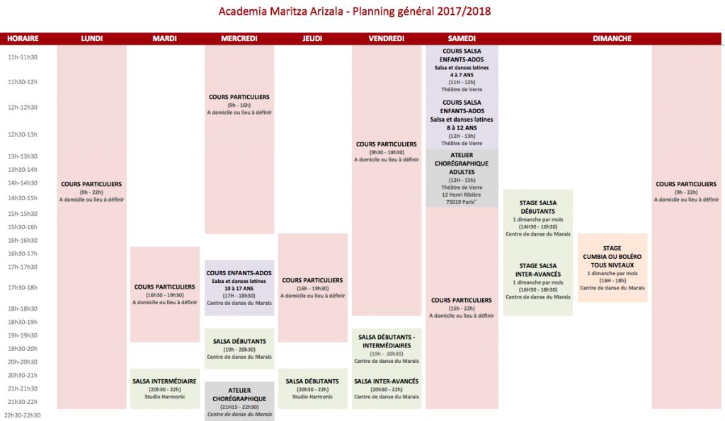 planning général 2018