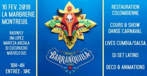 Carnaval 16 febrero 2018 Flyer